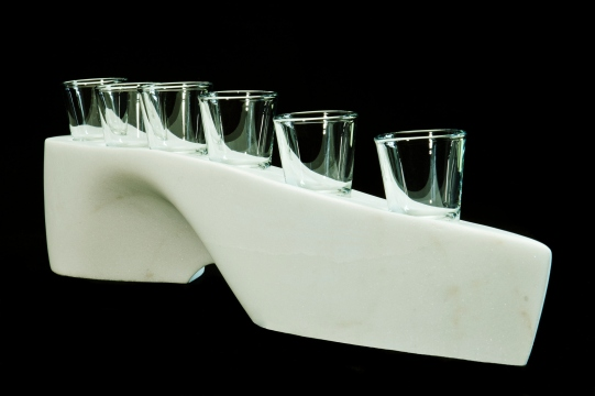 """$1,200 Slippershot 24x5x4"""", The Maiden Collection, Colorado Yule Marble Sculpture by Martin Cooney"""