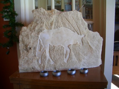 Gemsbok Drift pictured soon after her carving.