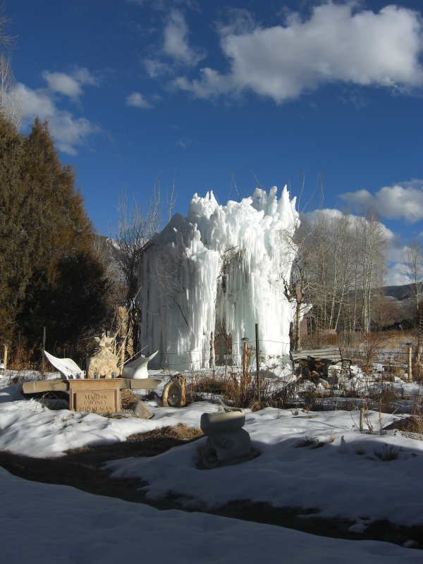 Day 20 January 27 2013 Sculpture Garden / 012713 The Ice Palace at martincooney.com