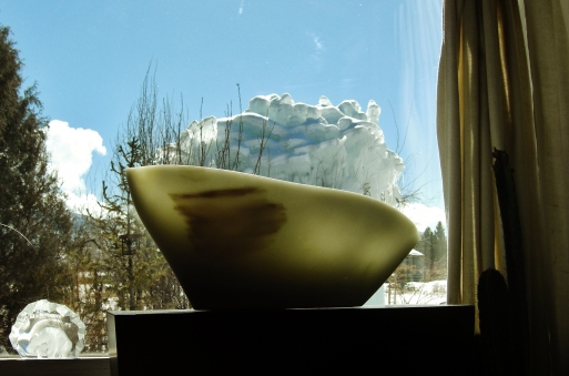 Day 57 March 5 2013 Ice Palace, Titanic, The Maiden Collection, Colorado Yule Marble Sculpture by Martin Cooney