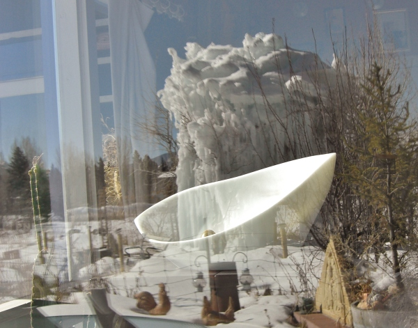 Sculpture Garden Ice Palace Reflection, Titanic, The Maiden Collection, Colorado Yule Marble Sculpture by Martin Cooney