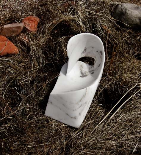 Sculpture Garden Swan Wave, The Maiden Collection, Colorado Yule Marble by Martin Cooney