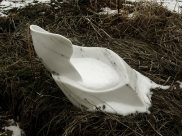 """$2,900 Swan Wave 19.5x12x14"""", The Maiden Collection, Colorado Yule Marble by Martin Cooney"""