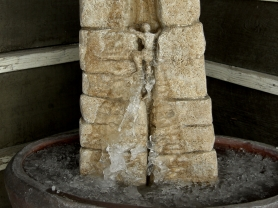 Climber At Rest, Winterset Limestone Fountain by Martin Cooney, author martincooney.com