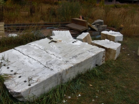 Workshop / Stone Yard / Colorado Yule Marble Slab Destined to be The Maiden Collection