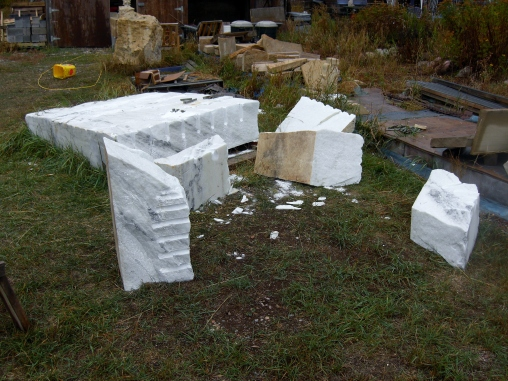 Splitting the Maiden Collection Colorado Yule Marble Slab @ martincooney.com