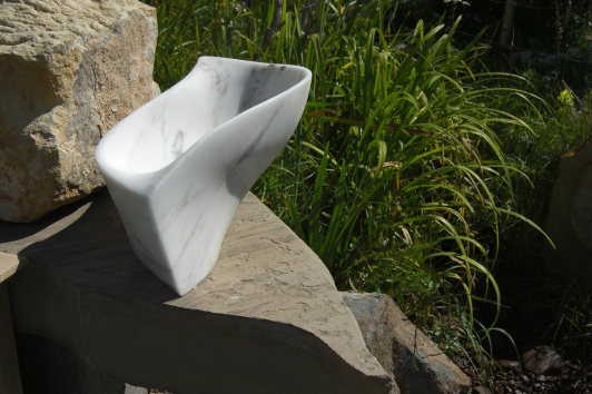 The Sculpture Garden, Chicane, The Maiden Collection, Colorado Yule Marble Sculpture by Martin Cooney