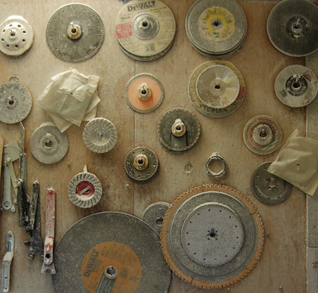 Birdhaven Studio Workshop, Blades on the Wall.