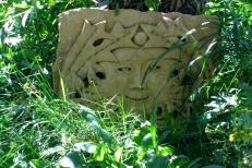 Elky, Kansas Creme Limestone Sculpture by Martin Cooney, stone sculptor