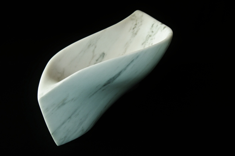 "$1,650 Chicane 16.5x9x7.5"", The Maiden Collection, Colorado Yule Marble Sculpture by Martin Cooney"