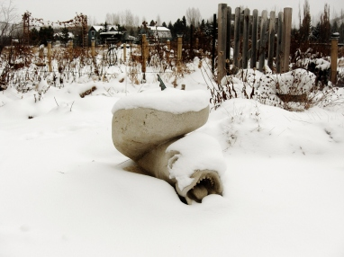 Sea Monster, Kansas Creme, by Martin Cooney, Birdhaven Sculpture Garden, Woody Creek, Colorado