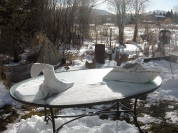 Sculpture Garden, Dreadnought, Troy, The Maiden Collection, Colorado Yule Marble Sculpture by Martin Cooney