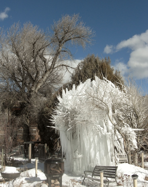 The Ice Palace blossoms out, 7th Wonder of Woody Creek, Colorado.