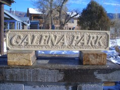 Letter Cut Limestone Sign by Martin Cooney