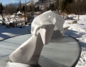 Troy, The Maiden Collection, Colorado Yule Marble Sculpture by Martin Cooney