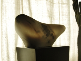 The namesake Maiden Bowl, The Maiden Collection, Colorado Yule Marble Sculpture by Martin Cooney