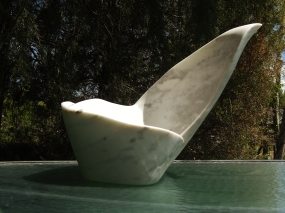 Felucca, The Maiden Collection, Colorado Yule Marble Sculpture by Martin Cooney