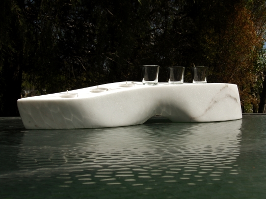 Slippershot, The Maiden Collection, Colorado Yule Marble Sculpture by Martin Cooney