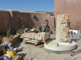 Martin Cooney, Partners in Time Fountain, Winterset with Kansas Creme base, by Martin Cooney, Brush Creek, Aspen, Colorado