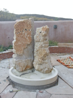 Partners in Time, Winterset Limestone Fountain @ martincooney.com
