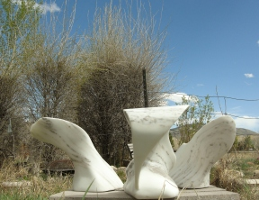 Wave Power, Thing One, Two andThe Demure One, The Maiden Collection, Colorado Yule Marble Sculpture by Martin Cooney. The Maiden Collection By Martin Cooney