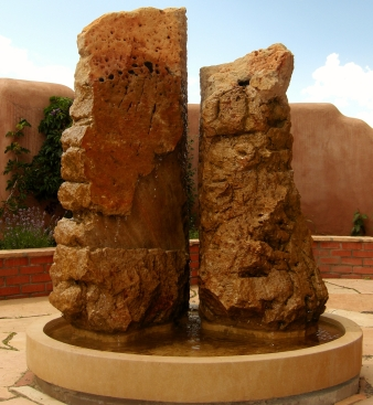Partners in Time Fountain, Winterset with Kansas Creme base, by Martin Cooney, Brush Creek, Aspen, Colorado