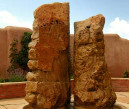 Partners in Time, Winterset Limestone Fountain by Martin Cooney