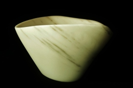 Vanilla Bean, The Maiden Collection, Colorado Yule Marble Sculpture by Martin Cooney