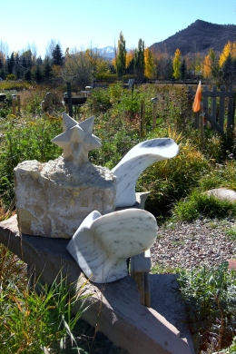 Thing Two, Thing One, The Maiden Collection, Colorado Yule Marble Sculpture by Martin Cooney