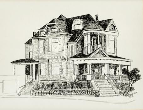 The Simon Benson House, Downtown Portland, 1982.