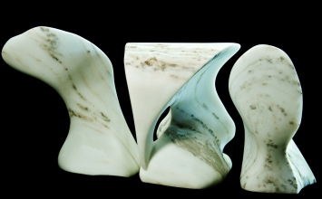 Wave Power, Thing One, Two and The Demure One, The Maiden Collection, Colorado Yule Marble Sculpture by Martin Cooney