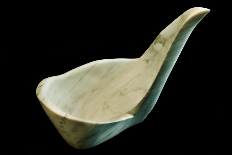 Hand Carved Marble Bowl - Felucia, The Maiden Collection
