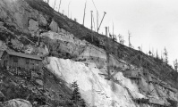 Quarrying marble at 9,300 feet, on a steep mountainside, presents quite a challenge.