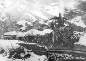 Yule Marble Steam Tractor, Marble, Colorado