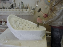 Studio Workshop,Mother of Pearl, The Maiden Collection, Colorado Yule Marble Sculpture by Martin Cooney