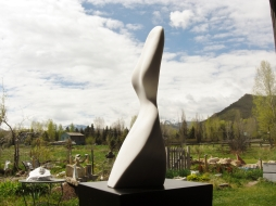 Belle, The Maiden Collection, Colorado Yule Marble Sculpture by Martin Cooney