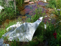Mabel, Spirit of the Stone, The Maiden Collection, Colorado Yule Marble Sculpture by Martin Cooney, Sculpture Garden 2013 08 04 @ martincooney.com