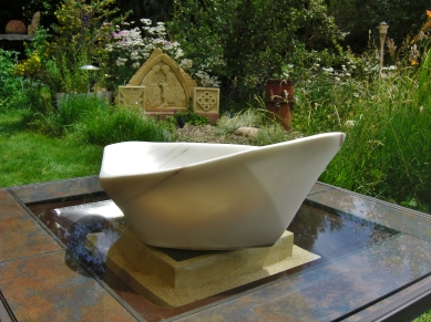 "$2,400 Coracle 22.5x15.5x8.5"", The Maiden Collection, Colorado Yule Marble Sculpture by Martin Cooney"
