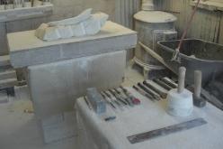 Birdhaven Studio Workshop, Work in Progress, The Maiden Collection, Colorado Yule Marble Sculpture by Martin Cooney