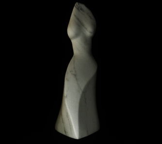Venus de Mermaid, The Maiden Collection, Colorado Yule Marble Sculpture by Martin Cooney