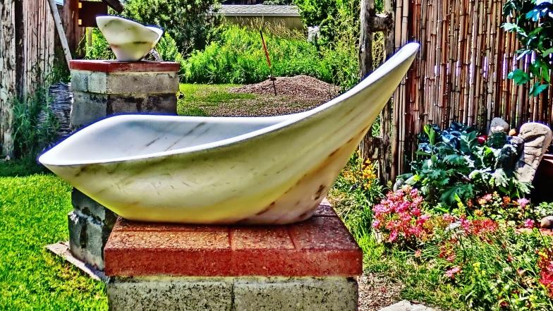 Birdhaven Sculpture Garden, Woody Creek, Colorado, Mother of Pearl, The Maiden Collection, Colorado Yule Marble Sculpture by Martin Cooney