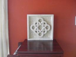 Celtic Eternal Knot, Limestone Sculpture by Martin Cooney