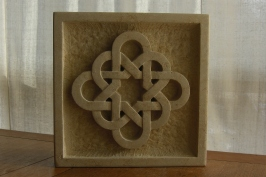 Celtic Eternal Knot, Limestone Sculpture by Martin Cooney