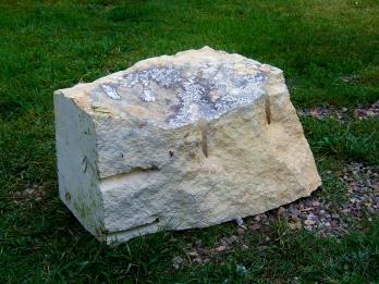 Pagoda Bowl Fountain, Kansas Creme Limestone by Martin Cooney, Stone Sculptor