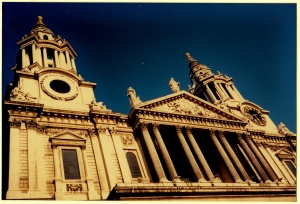 St Paul's Cathedral, Leaning Towers on the Streets of London by Martin Cooney