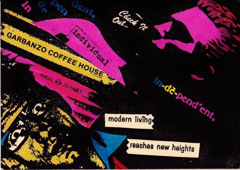 Modern Living Poster The Garbanzo 1984-8, The Angel, London @ martincooney.com