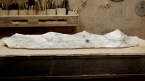studio workshop, 'Mountains of Moab', 1314 Winter Collection, Colorado Yule Marble Sculpture by Martin Cooney
