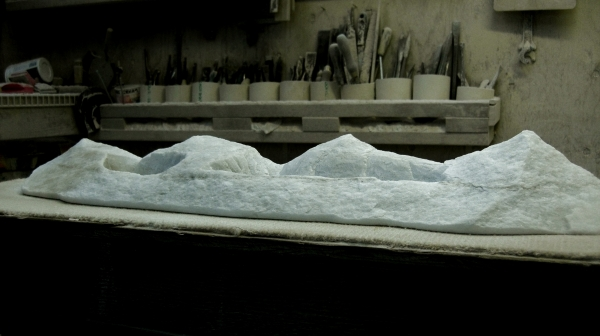 'Mountains of Moab', 1314 Winter Collection, Colorado Yule Marble Sculpture by Martin Cooney