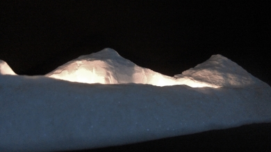 'Mountains of Moab', 1314 Winter Collection, Colorado Yule Marble by Martin Cooney