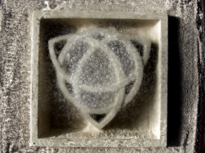 Frosty Morning, Celtic Eternal Knot, Limestone Sculpture by Martin Cooney